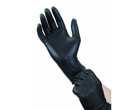 Γάντια νυτριλίου μαύρα χωρίς πούδρα /100τεμ